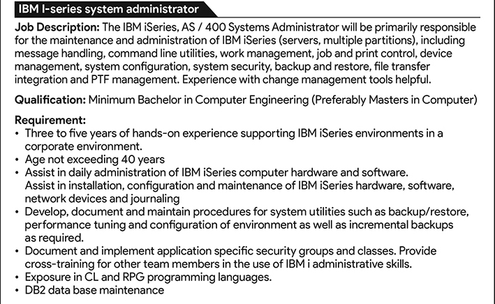 System Administrator Job Description