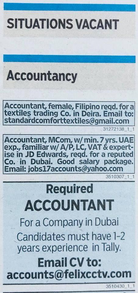 vacancies in gulf news octorber 23 2017