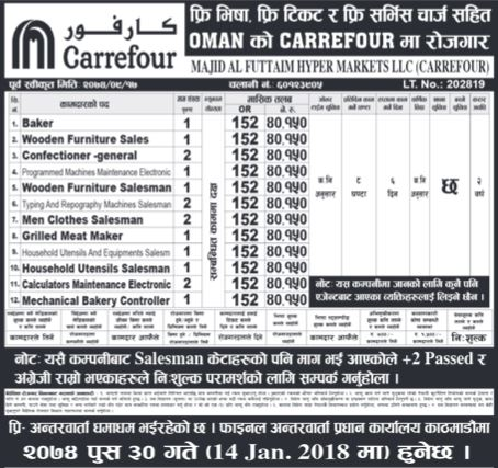 Oman Job Demand From Majid Al Futtaim Hyper Markets LLC