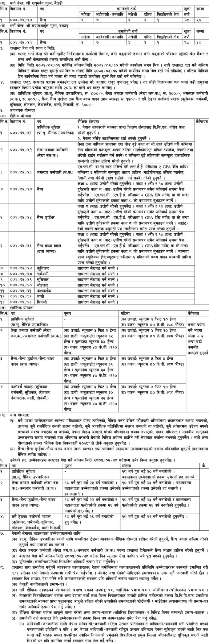 Job Vacancy In Nepal Army Job Finder In Nepal Nepali