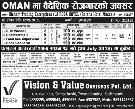 Job Vacancy In Hosham Trading Enterprises Company,Job