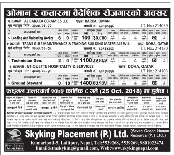 Job Finder In Nepal, Nepali
